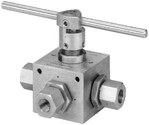 Ohio Valley Industrial Services- High Pressure Instrumentation- Parker Autoclave Engineers- 4 Way High Pressure Ball Valve