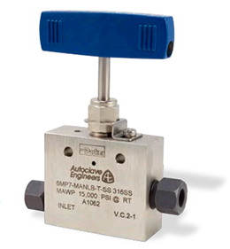 Ohio Valley Industrial Services- High Pressure Instrumentation- Parker Autoclave Engineers- MAN Series Needle Valve with MPI Connections